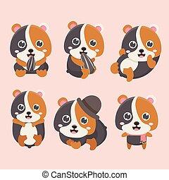 Sourire dessin anim heureux hamster danse - Hamster dessin anime ...