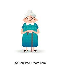Grand-mère sexe dessins animés