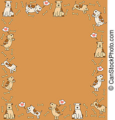 dessin animé, illustration, chien