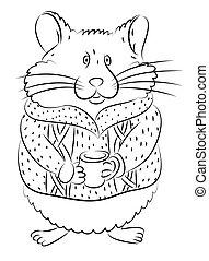 Griffonnage dessin anim hamster mignon rigolote - Hamster dessin anime ...