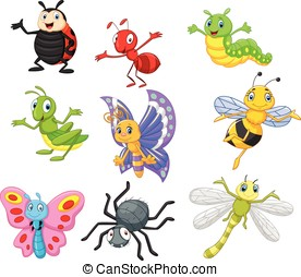 dessin animé, insecte