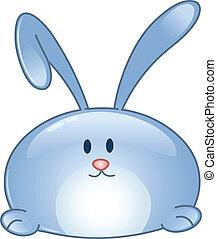 dessin animé, lapin, icône