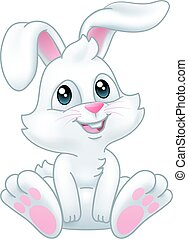 dessin animé, lapin, lapin pâques