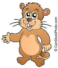 dessin animé, marmotte amérique