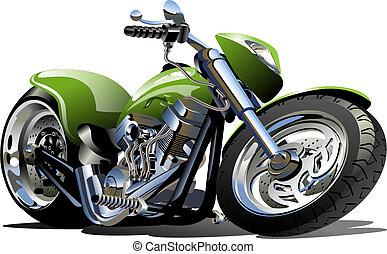 dessin animé, motocyclette