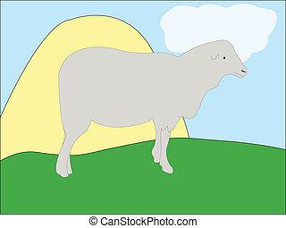 Agneau vecteur dessin anim mouton rigolote mouton - Mouton dessin anime ...