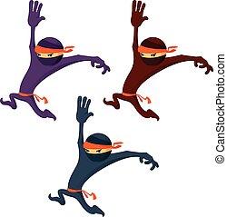 Mignon ensemble dessin anim ninja mignon diff rent ensemble art illustration agrafe - Dessin anime ninja ...