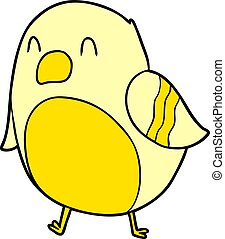 dessin animé, oiseau