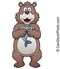 dessin animé, ours