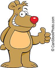 dessin animé, ours, teddy