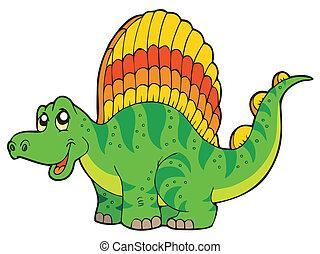 dessin animé, petit, dinosaure
