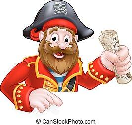 dessin animé, pirate