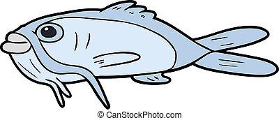 dessin animé, poisson-chat