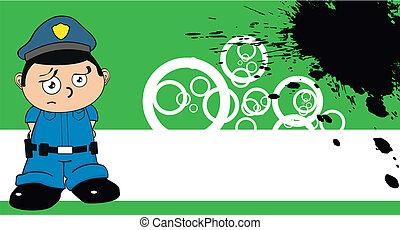 dessin animé, policier, background2, gosse