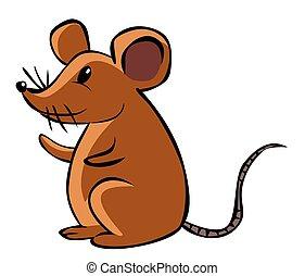dessin animé, rat