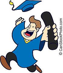 dessin animé, remise de diplomes