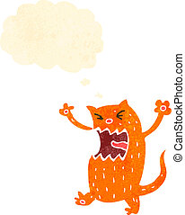 dessin animé, retro, chat gingembre