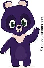 dessin animé, rigolote, illustration, ours
