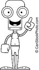 dessin animé, robot, idée, maillot de bain