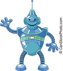 dessin animé, robot, mignon