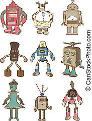 dessin animé, robot