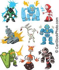 dessin animé, robots