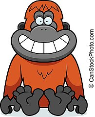dessin animé, séance orangutan