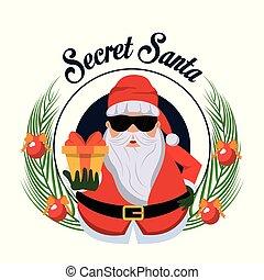 dessin animé, santa, top secret