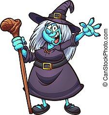 dessin animé, sorcière