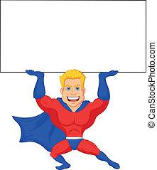 dessin animé, superhero, présentation