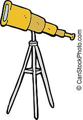 dessin animé, télescope