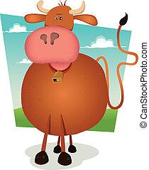 dessin animé, taureau