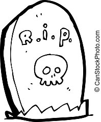 dessin animé, Tombe