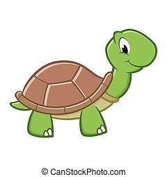 dessin animé, tortue