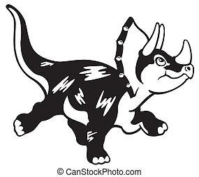 dessin animé, triceratops