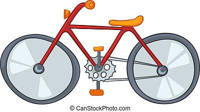 dessin animé, vélo