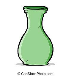 dessin animé, vase