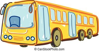 dessin, autobús, vectoriel, isol?