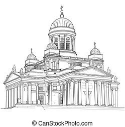 dessin, cathédrale