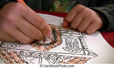 dessin, enfant