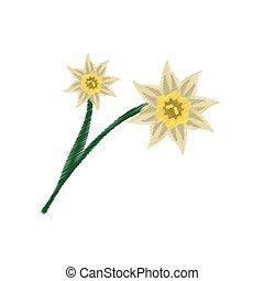 Jonquille dessin illustration croquis lin aire - Dessin jonquille fleur ...