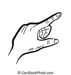 dessin, main
