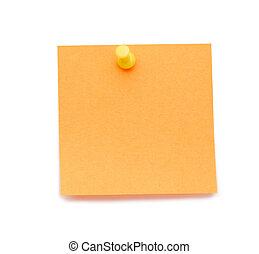 dessin, orange, poteau-il, épingle