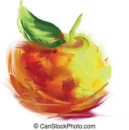 dessin, pomme