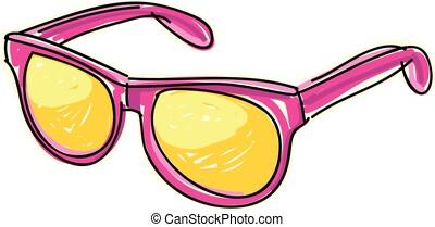 dessin, vectoriel, lunettes