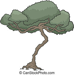 Conception dessiner arbre japonaise cr atif - Arbre dessiner ...