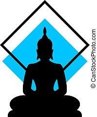 dessiner, bouddha, religion
