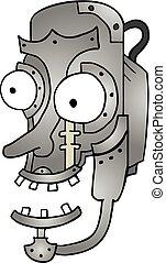 dessiner, métal, robot