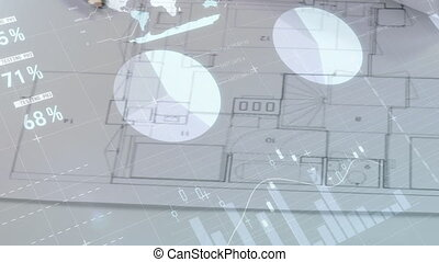 dessins, architectural, table
