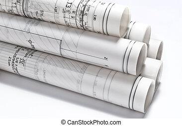 dessins architecturaux, projets